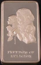 Freedom Of Religion ~ 4.17 Oz Wittnauer .925 Sterling Silver 2 Bar Matched Set