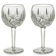 Pair of Waterford Crystal Lismore Balloon 8 oz. Wine Glasses *New in Box*