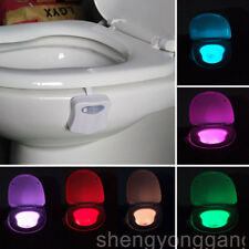 Durable Body Sensing Automatic LED Motion Sensor Toilet Bowl Night Light 8 Color