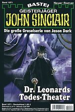 JOHN SINCLAIR ROMAN Nr. 1971 - Dr. Leonards Todes-Theater - Marc Freund NEU