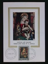VATICAN MK 1971 MADONNA & JESUS CHRISTUS MAXIMUMKARTE MAXIMUM CARD MC CM c6305