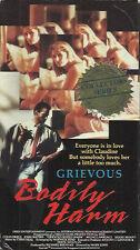Grievous Bodily Harm (VHS) OOP Sexy Underworld Thriller!