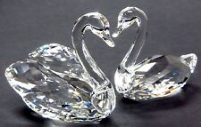 SWAN COUPLE CLEAR CRYSTAL (PAIR SWANS LOVE HEART)  2016 SWAROVSKI #5135936