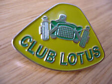 LOTUS CLUB LOTUS  ELAN ELITE RACING  CHROME ENAMEL LAPEL PIN