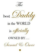 PERSONALISED NEW DAD DADDY FATHER GRANDAD UNCLE WORD ART PRINT GIFT PRESENT