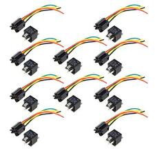 10X Car Truck Auto 12V 40A/30A SPDT Relay Relays 5 Pin 5P & Socket 5 Wire