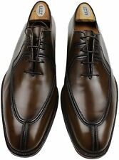 TESTONI BROWN SPLIT TOE LACE UP-9M-MADE IN ITALY