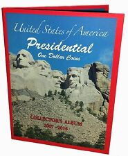 Lot of 40- US PRESIDENTIAL $1 ONE DOLLAR COINS COLLECTOR'S ALBUM, BOOK 2007-2016