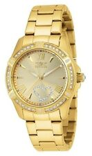 Invicta Women's Angel Crystal-Accented 18k Gold Ion-Plated Stainless Steel Watch