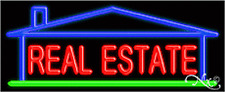 "BRAND NEW ""REAL ESTATE"" 32x13 W/HOUSE REAL NEON SIGN w/CUSTOM OPTIONS 10958"