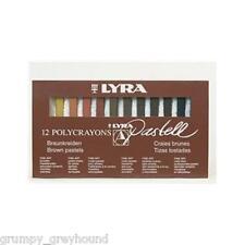 LYRA Polycrayons Juego de 12 Pastell Crayon Tracción Marrón Piel Tonos