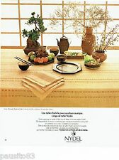 PUBLICITE ADVERTISING 116  1978  service de table Sierra Hacienda  nappe Nydel
