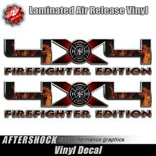 Firefighter Truck 4x4 Decal Flames Fireman Sticker for F-150 Truck