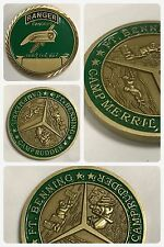Army Ranger Green Beret Special Force, BENNING Camp Merril Rudder Challenge Coin