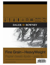 A5 DALER ROWNEY FINE GRAIN HEAVYWEIGHT CARTRIDGE PAD 200gsm ARTIST SKETCH PAPER