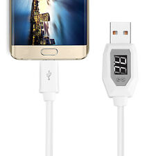 1M LCD Display Micro USB Data Charging Voltage Current Cable Cord For Samsung LG