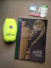 Murray-Raonic Final 2016 Wimbledon Programme-ground Ticket & Champagne Cooler