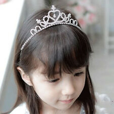 Glitter Rhinestone Princess Crown Tiara Headband Hair band for Toddler Kid Girl