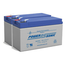 Power-Sonic 2 Pack - Replacement for APC Back-UPS XS1500 XS 1500 12V 7Ah Battery