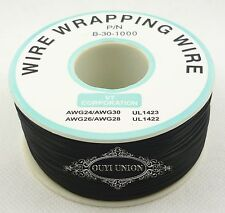 30AWG 305m Electrical Wire Single Core OK Line Airline Copper PCB Wire Black