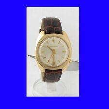 Mint 10k Gold Retro Bulova Accutron Tuning Fork Date Watch 1973