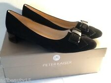 Peter Kaiser Joane Suede Bow Detail Pointed Pump - UK 6 or 7  Black