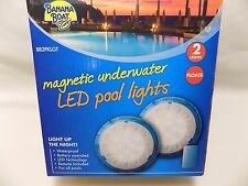BANANA BOAT MAGNETIC UNDERWATER LED POOL LIGHT(2) WITH REMOTE NEW