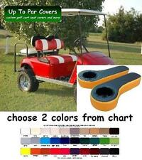 E-Z-Go TXT Golf Cart Custom Front + Rear Flip Seat Cover + Rear Armrests Combo