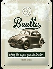VW Beetle Enjoy The Way Your Destination Metal Sign Home Decor Studio Garage Pub