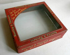 vintage huntley and palmers advertising shop display hinged glass lid