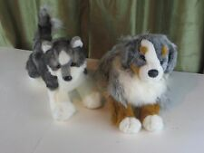 Lot of Douglas Cuddle Toys Sinclair Australian Shepherd Dog Stuffed Plush Animal