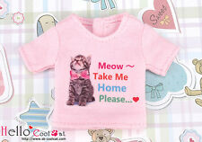 ☆╮Cool Cat╭☆【PR-93】Blythe Pullip Doll Print Tee (Take Me Home) # Pink