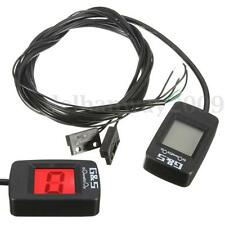 Red LCD Display Motorcycle Universal Digital Gear Indicator Shift Lever Sensor
