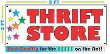 THRIFT STORE w Multi Colored Stars Banner Sign NEW Larger Size