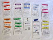 Monopoly .COM Replacement Parts Property Deed Title Cards 2000 Hasbro