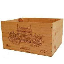 1 X GENUINE FRENCH WOODEN WINE BOX - CRAFT SUPPLIES BOX FOR WOOL YARN KNITTING