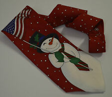 Yule Tie Greetings Hallmark Neck Tie Men 100% Silk NeckTie Made in Korea