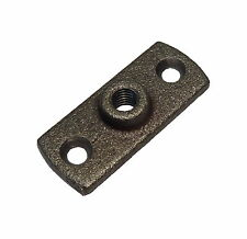 Black Iron Female M10 (10mm) Wall / Back Plate - Use With Munsen Ring Pipe Clips