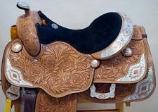 "16"" Showman WESTERN SADDLE SUPER SHOW Aztec Copper Silver Med/ Lite Oil"