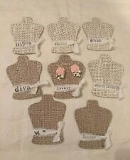 BEAUTIFUL vintage Burlap EARRING DISPLAY CARDS, earrings cards, jewelry holder