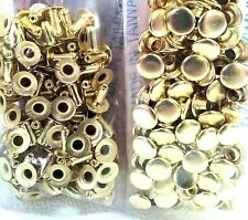 100 Pack of BRASS Plate SMALL RAPID RIVETS 1271-11 Tandy Leather Rivet