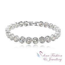 18K White Gold Plated Made With Swarovski Element Twinkle Star Silver Bracelet