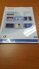 SONY NEX 6 DIGITAL CAMERA  PRINTED INSTRUCTION MANUAL USER GUIDE 247 PAGES A5