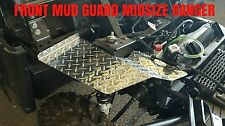 2013 - 2014 MIDSIZE POLARIS RANGER 570 BLACK DIAMOND PLATE FRONT MUD GUARDS