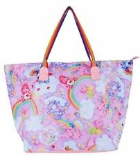 Iron Fist Care Bears Oversized Tote Bag Punk Skater Tattoo Handbag Purse Coloful