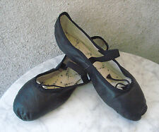 CAPEZIO Black Leather BALLET Shoe Slippers ~ FULL SOLE ~ 7.5N Adult