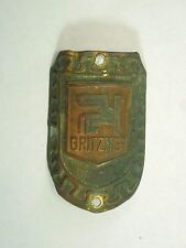 Vintage Antique Gritzner Bicycle Head Badge Emblem Griffon Logo