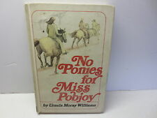 No Ponies for Miss Pobjoy by Ursula Moray Williams vintage 1975 First U.S. Ed.