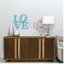 PATTERNED LETTER LOVE Wall Stickers Paisley Embellishment Word Wall DECALS Quote