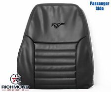1999 2000 Ford Mustang GT V8 -Passenger Side LEAN BACK Leather Seat Cover Black